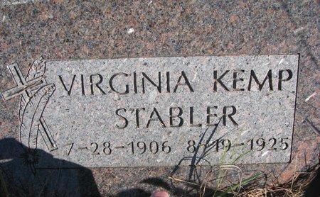 STABLER, VIRGINIA - Thurston County, Nebraska | VIRGINIA STABLER - Nebraska Gravestone Photos