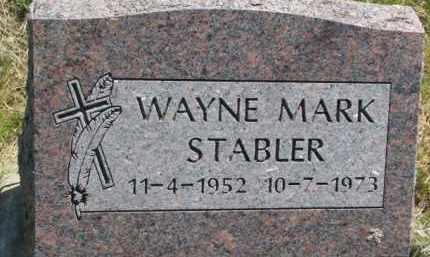 STABLER, WAYNE MARK - Thurston County, Nebraska | WAYNE MARK STABLER - Nebraska Gravestone Photos