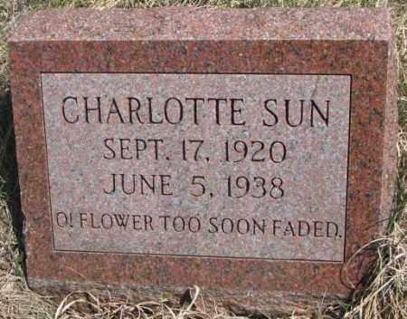 SUN, CHARLOTTE - Thurston County, Nebraska | CHARLOTTE SUN - Nebraska Gravestone Photos