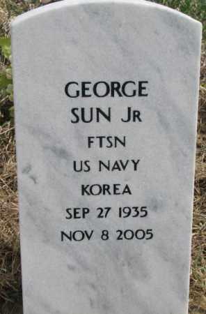 SUN, GEORGE JR. - Thurston County, Nebraska   GEORGE JR. SUN - Nebraska Gravestone Photos