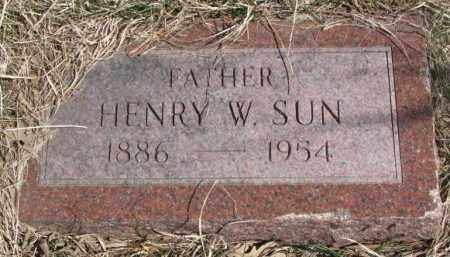SUN, HENRY W. - Thurston County, Nebraska | HENRY W. SUN - Nebraska Gravestone Photos