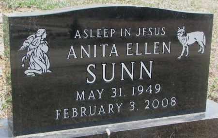SUNN, ANITA ELLEN - Thurston County, Nebraska   ANITA ELLEN SUNN - Nebraska Gravestone Photos