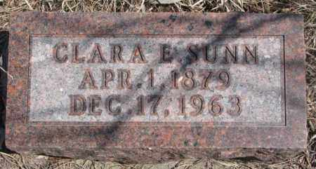 SUNN, CLARA E. - Thurston County, Nebraska | CLARA E. SUNN - Nebraska Gravestone Photos