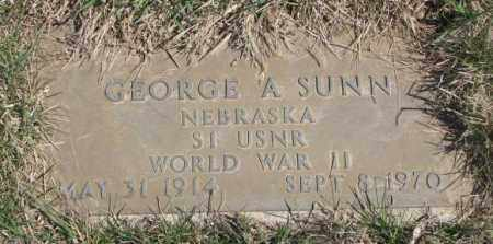 SUNN, GEORGE A. - Thurston County, Nebraska | GEORGE A. SUNN - Nebraska Gravestone Photos