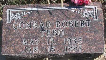 TEBO, CONRAD ROBERT - Thurston County, Nebraska | CONRAD ROBERT TEBO - Nebraska Gravestone Photos