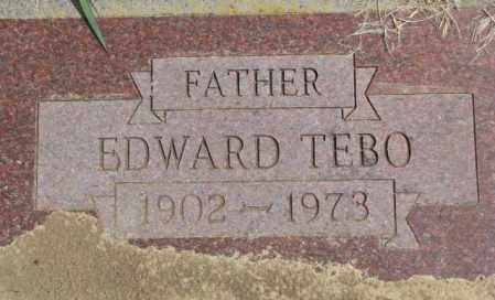 TEBO, EDWARD - Thurston County, Nebraska | EDWARD TEBO - Nebraska Gravestone Photos