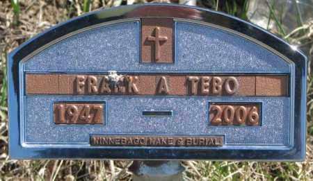 TEBO, FRANK A. - Thurston County, Nebraska | FRANK A. TEBO - Nebraska Gravestone Photos