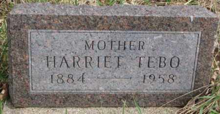 TEBO, HARRIET - Thurston County, Nebraska | HARRIET TEBO - Nebraska Gravestone Photos