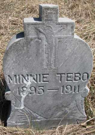 TEBO, MINNIE - Thurston County, Nebraska | MINNIE TEBO - Nebraska Gravestone Photos
