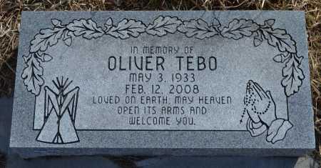 TEBO, OLIVER - Thurston County, Nebraska | OLIVER TEBO - Nebraska Gravestone Photos