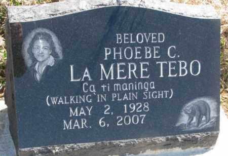 TEBO, PHOEBE C. - Thurston County, Nebraska | PHOEBE C. TEBO - Nebraska Gravestone Photos