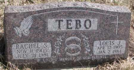 TEBO, RACHEL S. - Thurston County, Nebraska | RACHEL S. TEBO - Nebraska Gravestone Photos