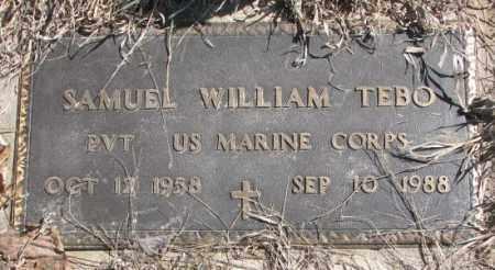 TEBO, SAMUEL WILLIAM - Thurston County, Nebraska   SAMUEL WILLIAM TEBO - Nebraska Gravestone Photos