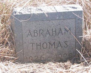 THOMAS, ABRAHAM - Thurston County, Nebraska | ABRAHAM THOMAS - Nebraska Gravestone Photos