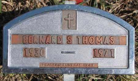 THOMAS, BERNARD S. - Thurston County, Nebraska | BERNARD S. THOMAS - Nebraska Gravestone Photos