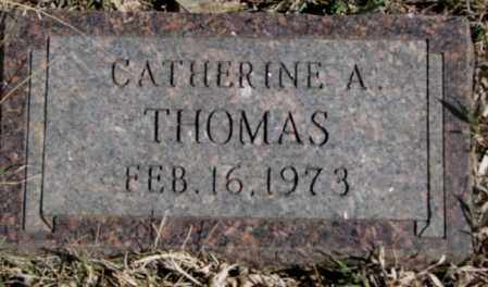 THOMAS, CATHERINE A. - Thurston County, Nebraska | CATHERINE A. THOMAS - Nebraska Gravestone Photos