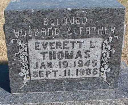 THOMAS, EVERETT L. - Thurston County, Nebraska | EVERETT L. THOMAS - Nebraska Gravestone Photos