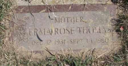 THOMAS, ERMA - Thurston County, Nebraska | ERMA THOMAS - Nebraska Gravestone Photos