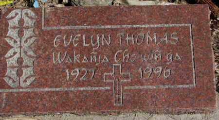THOMAS, EVELYN - Thurston County, Nebraska | EVELYN THOMAS - Nebraska Gravestone Photos