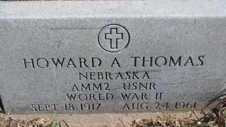 THOMAS, HOWARD A. - Thurston County, Nebraska | HOWARD A. THOMAS - Nebraska Gravestone Photos