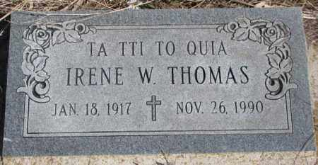 THOMAS, IRENE W. - Thurston County, Nebraska | IRENE W. THOMAS - Nebraska Gravestone Photos