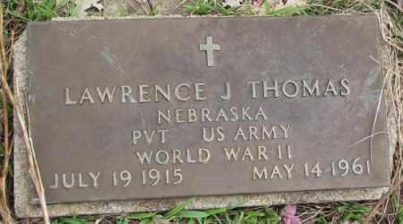 THOMAS, LAWRENCE J. - Thurston County, Nebraska | LAWRENCE J. THOMAS - Nebraska Gravestone Photos