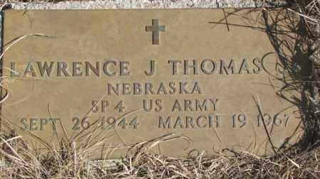 THOMAS, LAWRENCE J. - Thurston County, Nebraska   LAWRENCE J. THOMAS - Nebraska Gravestone Photos