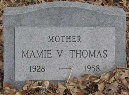 THOMAS, MAMIE V. - Thurston County, Nebraska | MAMIE V. THOMAS - Nebraska Gravestone Photos