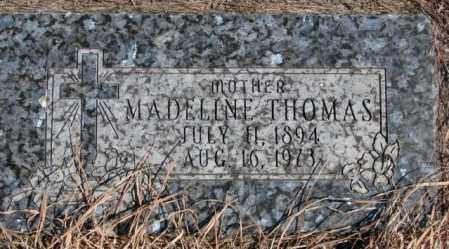 THOMAS, MADELINE - Thurston County, Nebraska | MADELINE THOMAS - Nebraska Gravestone Photos