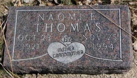 THOMAS, NAOMI E. - Thurston County, Nebraska | NAOMI E. THOMAS - Nebraska Gravestone Photos