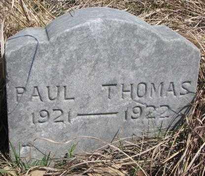 THOMAS, PAUL - Thurston County, Nebraska | PAUL THOMAS - Nebraska Gravestone Photos
