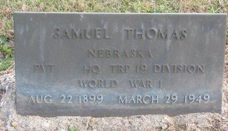 THOMAS, SAMUEL - Thurston County, Nebraska | SAMUEL THOMAS - Nebraska Gravestone Photos