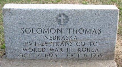 THOMAS, SOLOMON - Thurston County, Nebraska | SOLOMON THOMAS - Nebraska Gravestone Photos