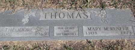 THOMAS, THEODORE SR. - Thurston County, Nebraska | THEODORE SR. THOMAS - Nebraska Gravestone Photos