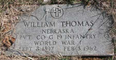 THOMAS, WILLIAM - Thurston County, Nebraska   WILLIAM THOMAS - Nebraska Gravestone Photos