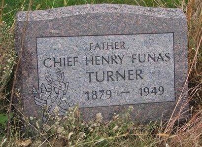 TURNER, HENRY FUNAS (CHIEF) - Thurston County, Nebraska   HENRY FUNAS (CHIEF) TURNER - Nebraska Gravestone Photos