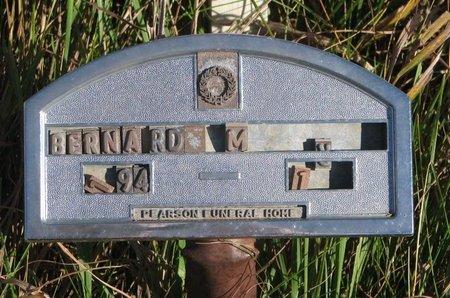UNKNOWN, BERNARD - Thurston County, Nebraska | BERNARD UNKNOWN - Nebraska Gravestone Photos