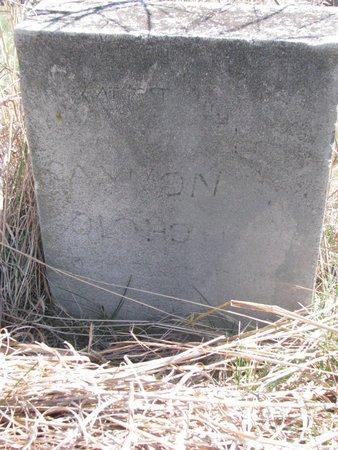 UNKNOWN, DAYMON ? - Thurston County, Nebraska | DAYMON ? UNKNOWN - Nebraska Gravestone Photos
