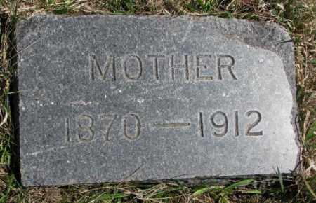UNKNOWN, MOTHER - Thurston County, Nebraska   MOTHER UNKNOWN - Nebraska Gravestone Photos