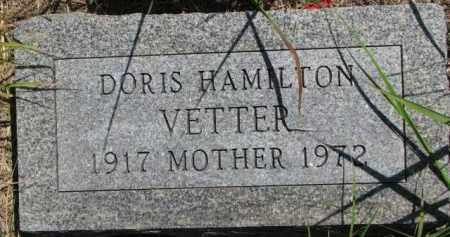 HAMILTON VETTER, DORIS - Thurston County, Nebraska | DORIS HAMILTON VETTER - Nebraska Gravestone Photos