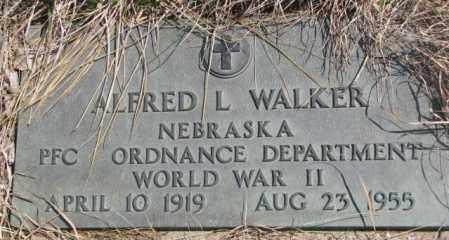 WALKER, ALFRED L. - Thurston County, Nebraska | ALFRED L. WALKER - Nebraska Gravestone Photos
