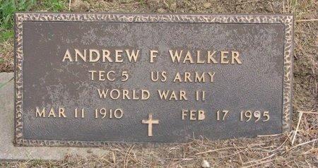WALKER, ANDREW F. - Thurston County, Nebraska | ANDREW F. WALKER - Nebraska Gravestone Photos