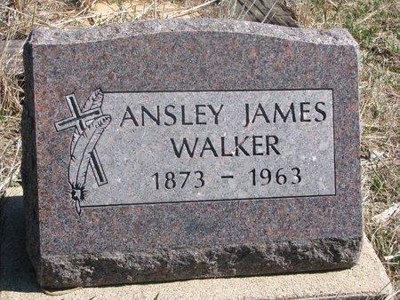 WALKER, ANSLEY JAMES - Thurston County, Nebraska   ANSLEY JAMES WALKER - Nebraska Gravestone Photos