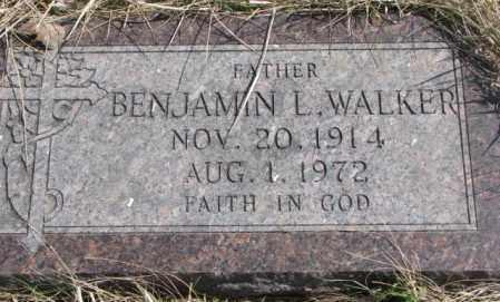 WALKER, BENJAMIN L. - Thurston County, Nebraska | BENJAMIN L. WALKER - Nebraska Gravestone Photos