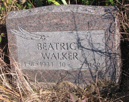 WALKER, BEATRICE - Thurston County, Nebraska | BEATRICE WALKER - Nebraska Gravestone Photos