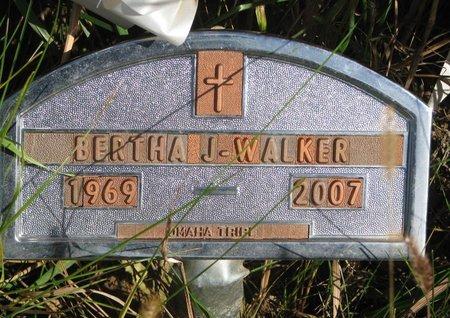 WALKER, BERTHA J. - Thurston County, Nebraska | BERTHA J. WALKER - Nebraska Gravestone Photos