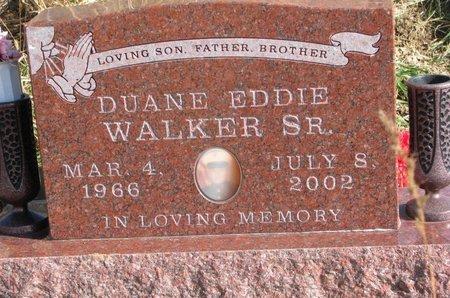 WALKER, DUANE EDDIE SR. - Thurston County, Nebraska | DUANE EDDIE SR. WALKER - Nebraska Gravestone Photos