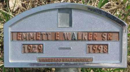 WALKER, EMMETT E. SR. - Thurston County, Nebraska | EMMETT E. SR. WALKER - Nebraska Gravestone Photos