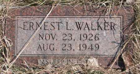 WALKER, ERNEST L. - Thurston County, Nebraska | ERNEST L. WALKER - Nebraska Gravestone Photos