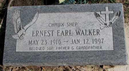 WALKER, ERNEST EARL - Thurston County, Nebraska | ERNEST EARL WALKER - Nebraska Gravestone Photos